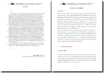 Albert Camus, L'Etranger, Premiére partie, Chapitre II (La rencontre avec Marie) : étude analytique