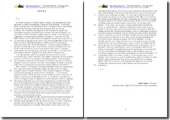 Albert Camus, L'Etranger, Deuxiéme partie, Chapitre IV (Le réquisitoire de l'avocat général) : étude analytique