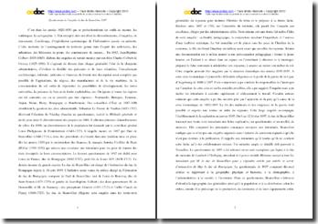 Commentaire sur le questionnaire de l'enquête du duc de Beauvillier (1697)