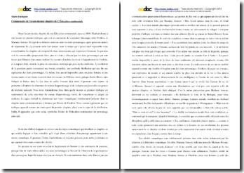 Flaubert, L'Education sentimentale, Avant dernier chapitre : commentaire