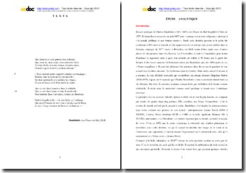 Charles Baudelaire, Les Fleurs du Mal, Poème XLII : étude analytique