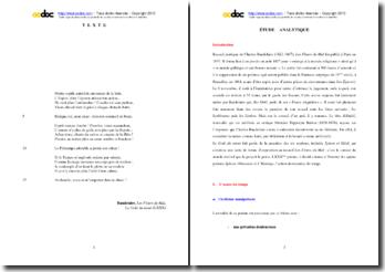 Charles Baudelaire, Les Fleurs du Mal, Le Goût du néant (LXXX) : étude analytique