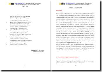 Charles Baudelaire, Les Fleurs du Mal, Don Juan aux Enfers (XV) : étude analytique