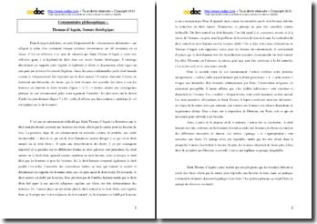 Saint Thomas d'Aquin, Somme théologique, Le droit et la justice : commentaire