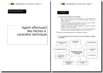 Auto-évaluation - Agent technique en mairie