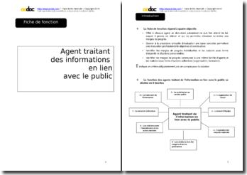 Auto-évaluation - Agent accueil public en mairie