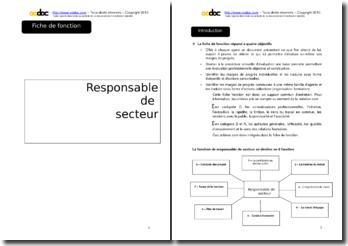 Auto-évaluation - Responsable de secteur en mairie