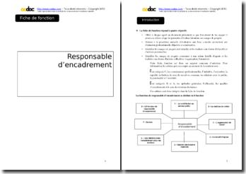 Auto-évaluation - Responsable d'encadrement en mairie