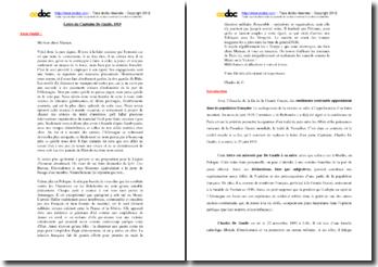 Analyse de la lettre de De Gaulle à sa mère datée du 25 juin 1919