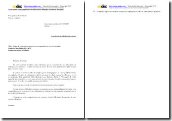 Lettre de contestation de suspension des allocations chômage