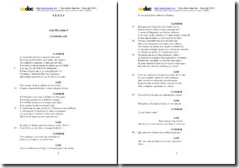 Corneille, L'Illusion comique, Acte III scène 5 : Le badinage amoureux