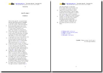 Etude analytique de la scène 1 (Le monologue d'Isabelle) de l'acte IV de L'Illusion comique, Corneille.
