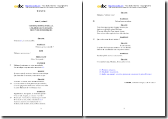 Corneille, L'illusion comique, Acte V scène 5 : étude analytique
