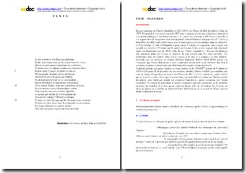 Baudelaire, Les Fleurs du Mal, Spleen (LXXVII) : étude analytique