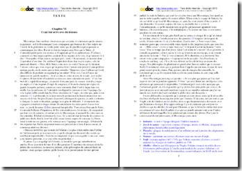 Voltaire, Micromégas, Chapitre VI : étude analytique
