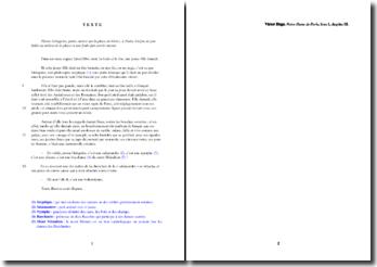 Victor Hugo, Notre-Dame de Paris, Livre I chapitre III : étude analytique