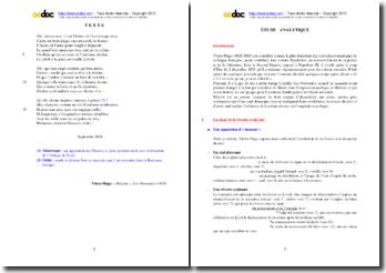 Etude analytique du poème Rêverie de Victor Hugo (recueil Les Orientales)
