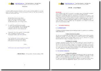 Alfred de Musset, Poésies posthumes, A George Sand : étude analytique du poème