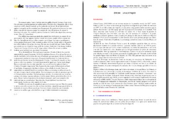 Albert Camus, La Peste : étude analytique d'un extrait : Le bain de l'amitié