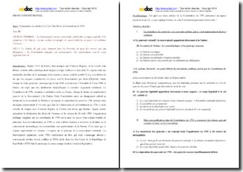Commentaire des articles 1 et 2 du Titre III de la Constitution de 1791