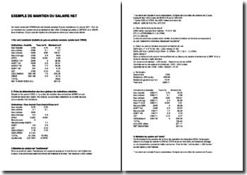 Exemple de maintien du salaire net en cas de maladie (Excel)