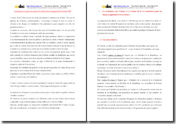 Les articles 11 et 89 de la Constitution du 4 octobre 1958