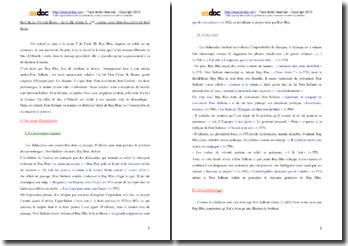 Hugo, Ruy Blas, Acte III scène 5, Première partie : commentaire