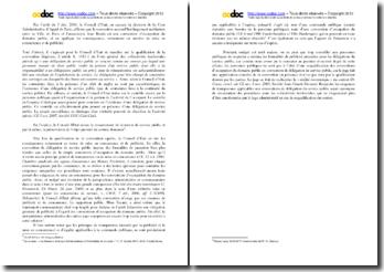 Note de synthèse sur l'arrêt du Conseil d'Etat, Ville de Paris du 3 décembre 2010