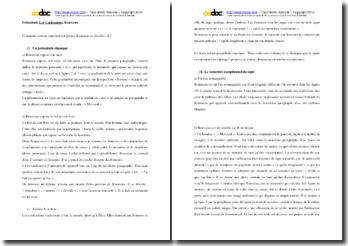 Rousseau, Les Confessions, Préambule : commentaire composé