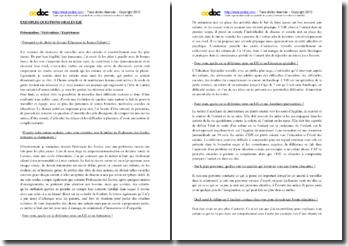 Exemples de questions orales pour le concours d'entrée EJE