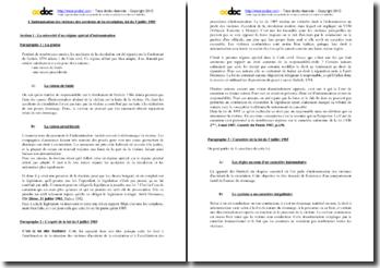 L'indemnisation des victimes des accidents de la circulation (loi du 5 juillet 1985)
