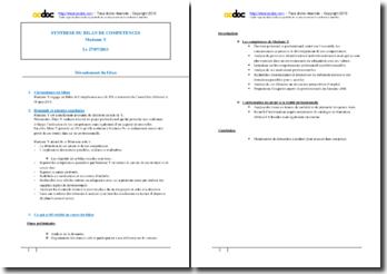 Exemple synthèse de bilan de compétences