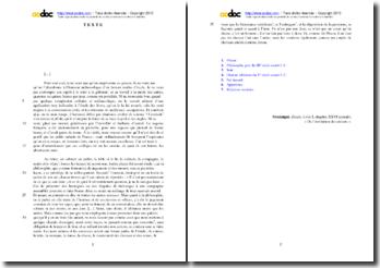 Montaigne, Essais, Livre I De l'institution des enfants, Chapitre XXVI : étude analytique