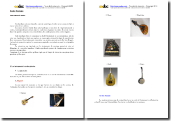Typologie des instruments à cordes