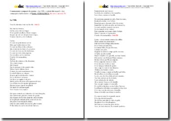 Emile Verhaeren, La Ville, Vers 1 à 50 : commentaire composé