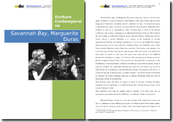 Marguerite Duras, Savannah Bay : analyse