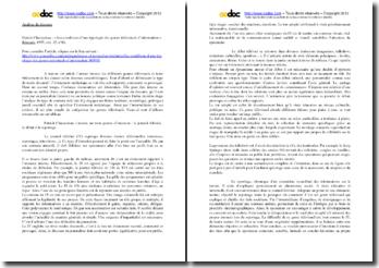 Patrick Charaudeau, Les conditions d'une typologie des genres télévisuels d'information : analyse