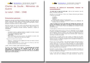 Charles de Gaulle, Mémoires de Guerre, Le Salut : analyse et explication