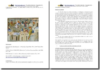 Iconographie d'un marché urbain au début du XVe siècle : commentaire
