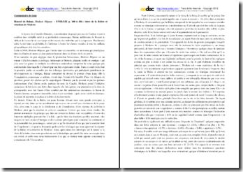 Honoré de Balzac, Modeste Mignon, chapitres 18-19, p.100 à 104 : lettre de la Brière et réactions de Modeste