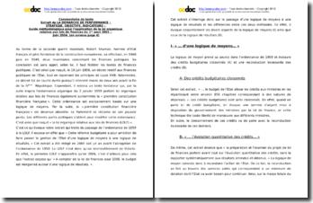 La démarche de performance : stratégie, objectifs, indicateurs - Guide méthodologique pour l'application de la loi organique relative aux lois de finances du 1er aout 2001 - Juin 2004 : commentaire