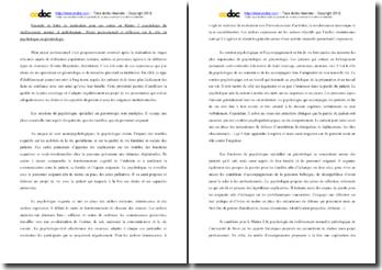 Exemple de lettre de motivation pour un dossier de candidature M2 Psychologie du vieillissement normal et pathologique