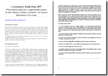 Présentation générale de L'Assommoir (Emile Zola), et approfondissement autour du corps et de l'ouvrier dans le roman