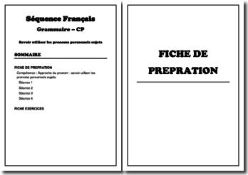 Séquence de Grammaire : pronom personnel sujet IL/ ELLE (CP)