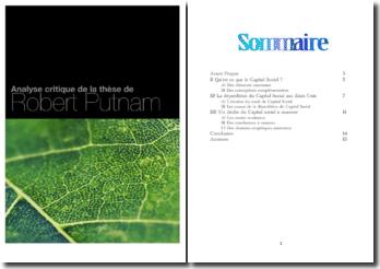 Analyse critique de la thèse de Robert Putnam