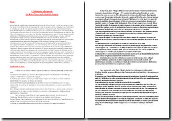 Marx et Engels, L'idéologie allemande : explication d'un extrait