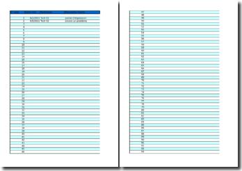 Fiches de gestion de données d'intervention informatique sous Excel