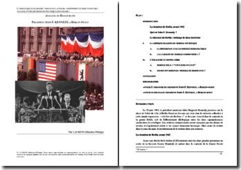 Analyse du discours du Président John F. Kennedy à Berlin-Ouest le 26 juin 1963
