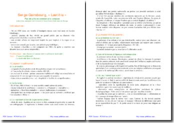 Tradition et modernité dans Laetitia de Serge Gainsbourg
