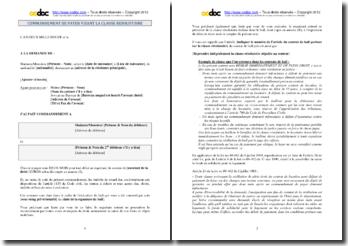 Modèle de commandement de payer visant la clause résolutoire d'un bail à usage d'habitation